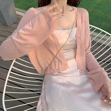 2020新款冰丝薄外套短款防晒衣女夏长袖针织小开衫裙子外搭bm上衣