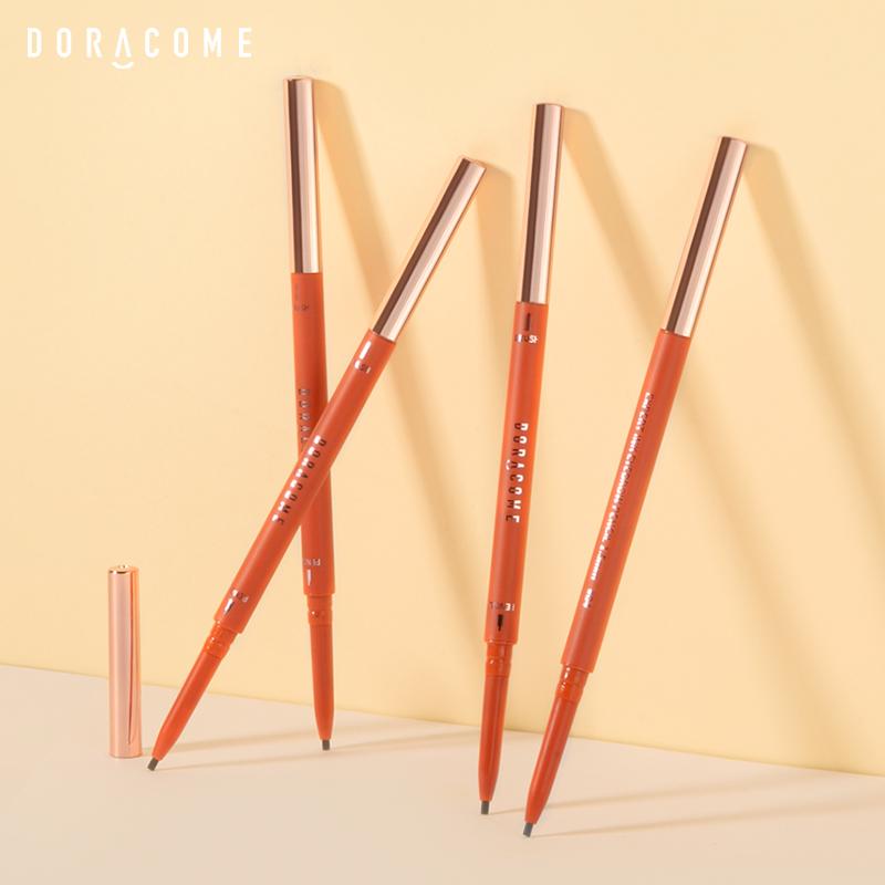 Doracome/哆可墨印精细自动眉笔极细笔芯超细头初学者防水不脱色