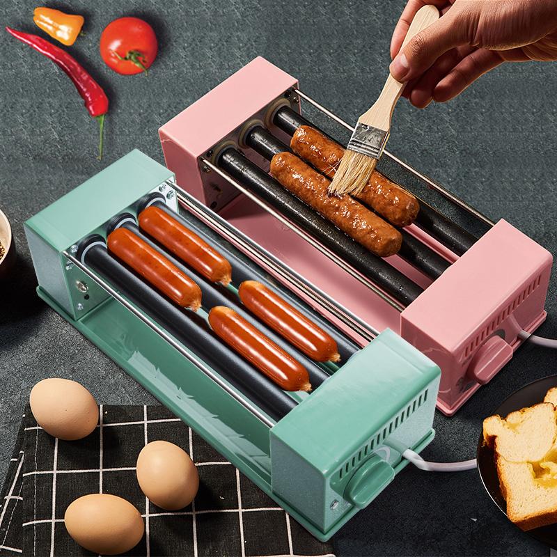 LRK烤肠机台式家用小型迷你热狗机宿舍学生神器香肠早餐机多功能