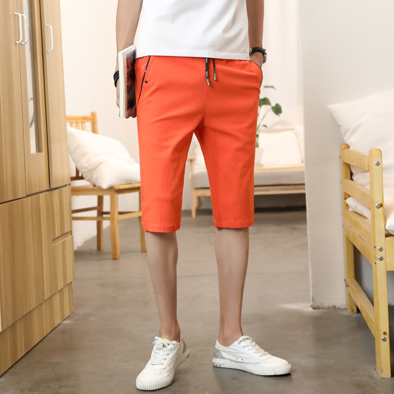Shorts mens Capris thin summer mens casual pants breathable fit trend Korean New Pants City