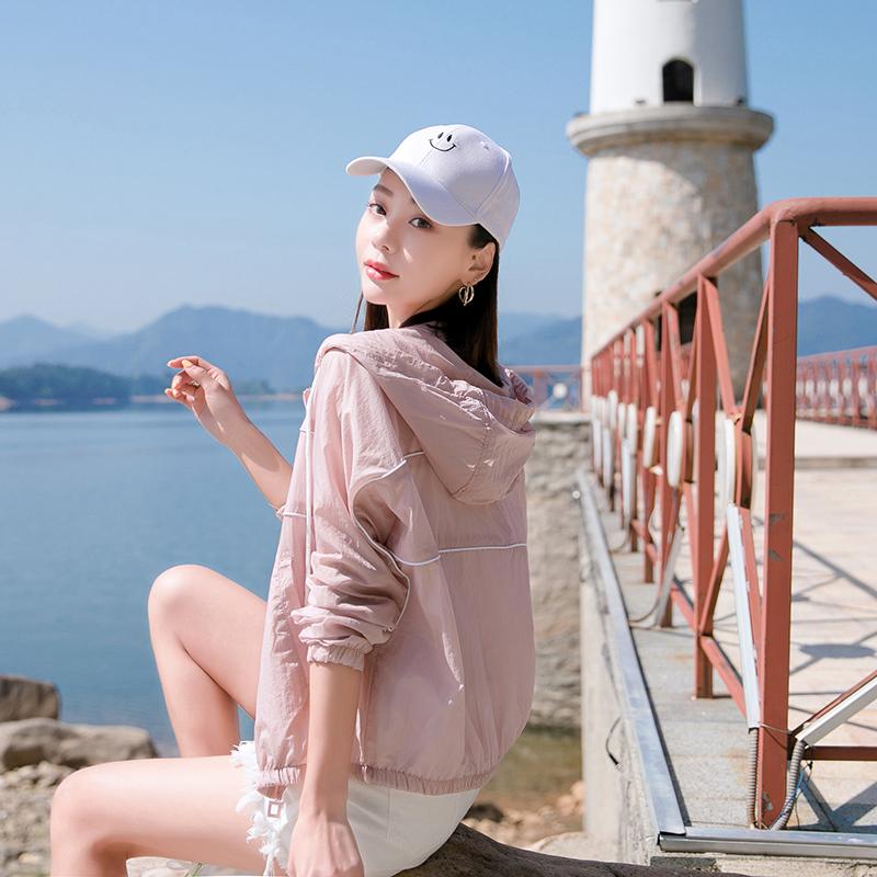 防嗮衣女短款2020夏季新款显瘦小个子休闲连帽户外透气防晒薄外套