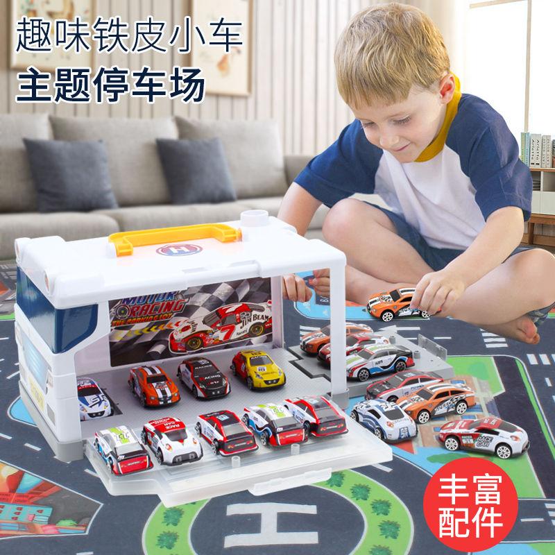 新款儿童玩具车滑行小汽车铁皮金属小车仔男孩惯性小汽车玩具组合网上购物优惠券