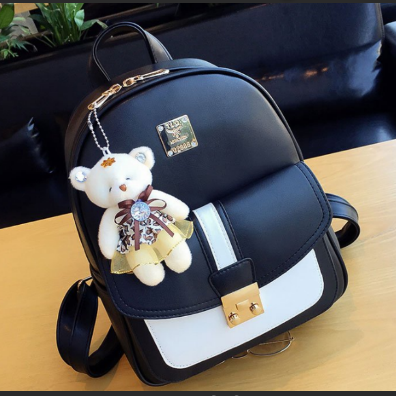 Backpack womens schoolbag 2020 new Korean college style Mini fresh student fashion leather backpack womens bag