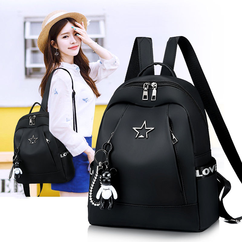 Backpack womens Korean 2020 new fashion versatile Oxford canvas bag student schoolbag Mini Backpack