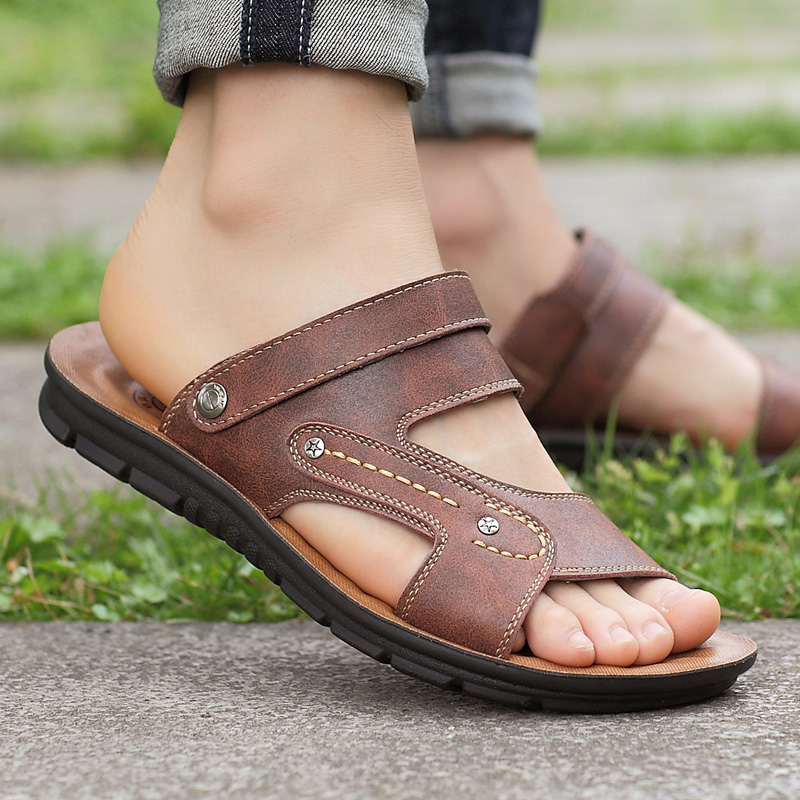 High grade 2021 new sandals mens outdoor wear summer mens slippers summer casual mens shoes beach cool