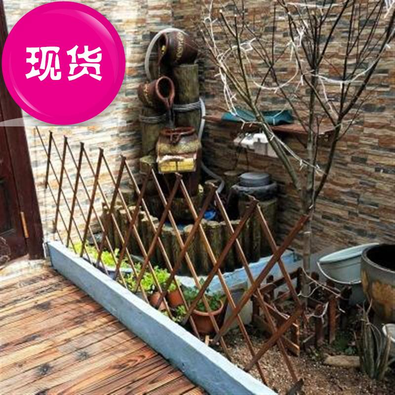 Indoor decoration fence, telescopic wooden fence, anti-corrosion grid, rattan frame, wall hanging and wall sticking households