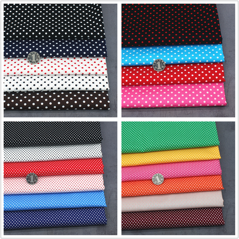 Pure cotton dot Shuiyu Polka fabric all cotton hand made DIY shirt dress dress fabric printed fabric