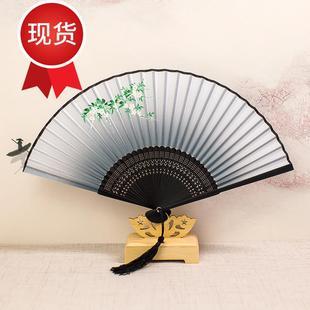 。折扇图案男女式古代风扇子阴阳师妖狐神3乐晴明卡通日式夏季绢