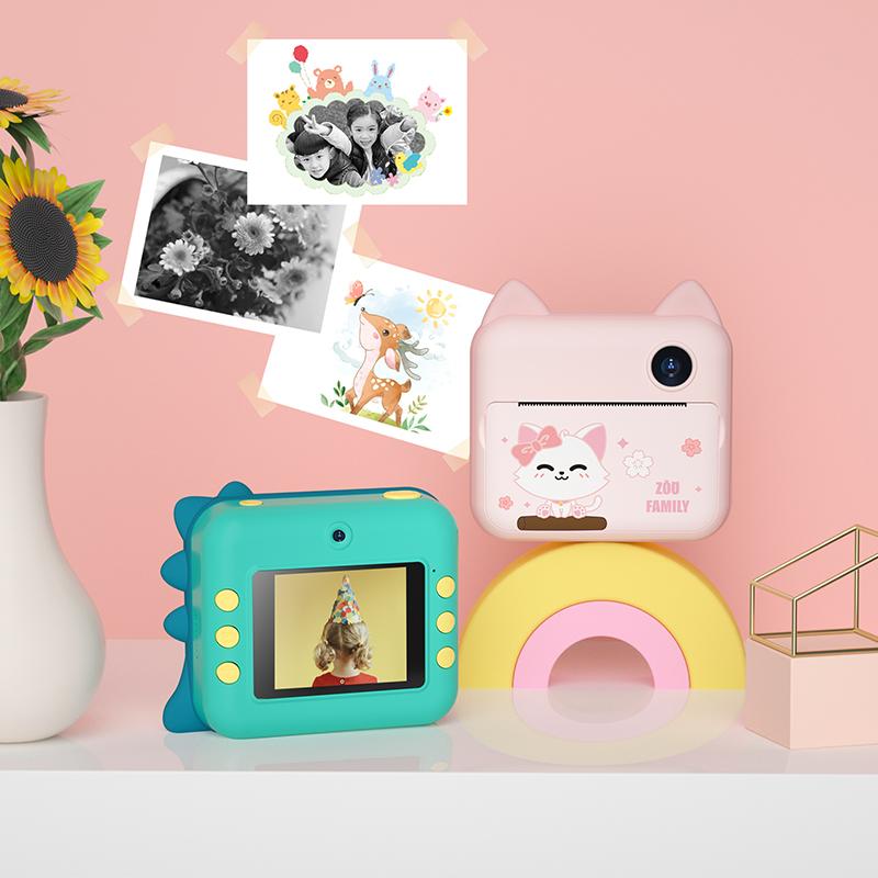 儿童数码照d相机女孩拍立得可拍照打印便携小单反高清小型学生玩