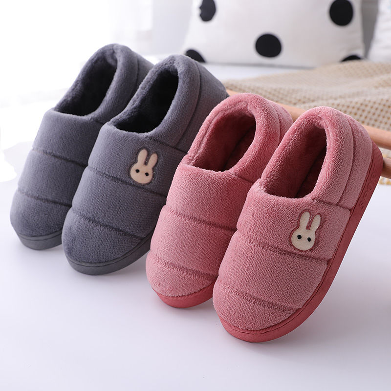 冬季情侣棉拖鞋女包跟男室内防滑时尚外穿韩版保暖月子鞋加绒厚底