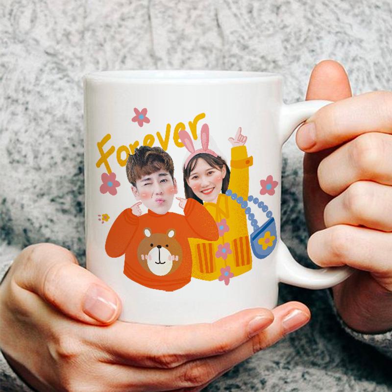 陶瓷马克水杯子定制diy印图照片创意个性潮流情侣生日礼物男朋友