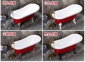 网红浴缸亚克力双层保温浴缸独立式浴缸欧式贵妃浴缸欧式小奢华