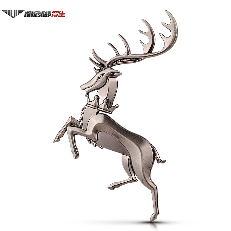 Power game family emblem antler car logo safe journey metal modified car stickers body stickers side window car tail decoration stickers
