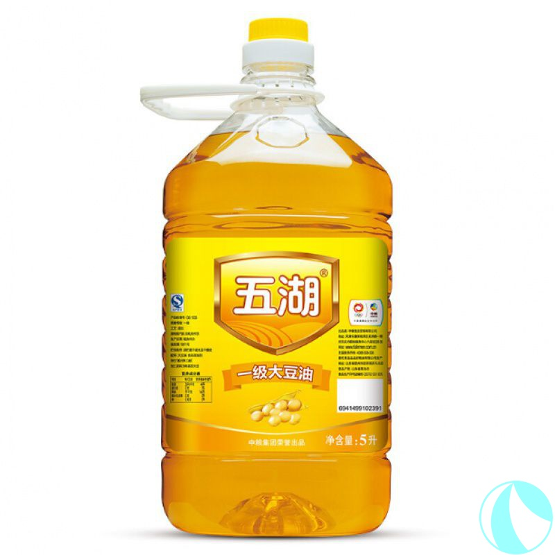 [4 pieces taken and distributed] Wuhu edible oil grade I soybean oil COFCO products catering canteen food 5L * 4