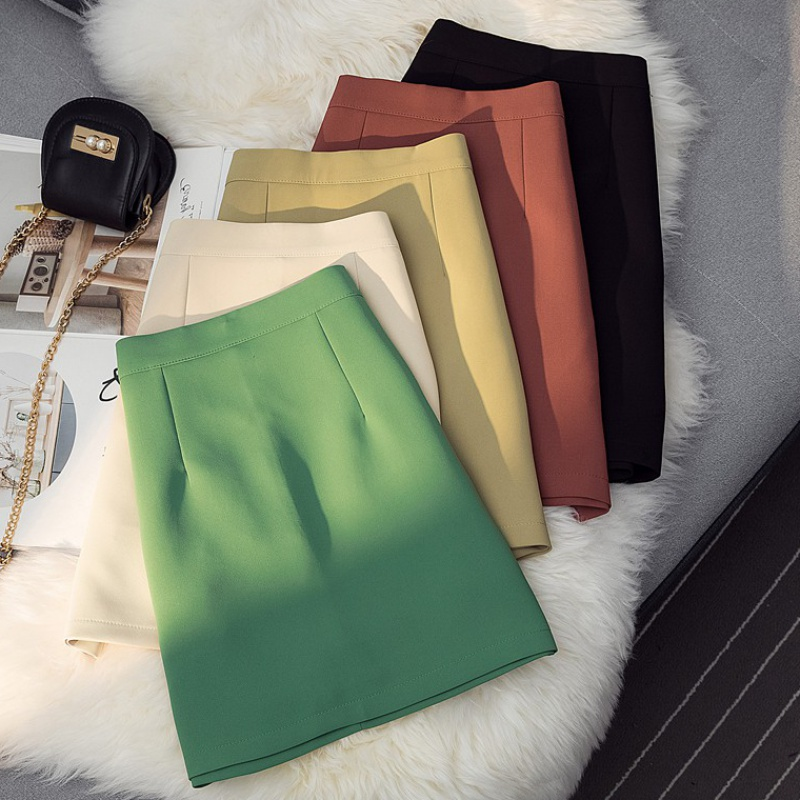 Summer 2020 high waist anti light skirt womens Korean style A-line hip skirt with bottoming