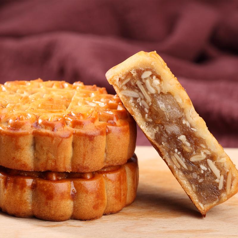 【生鮮出炉】多味広式五仁卵黄蓮蓉フルーツ月餅朝食お菓子