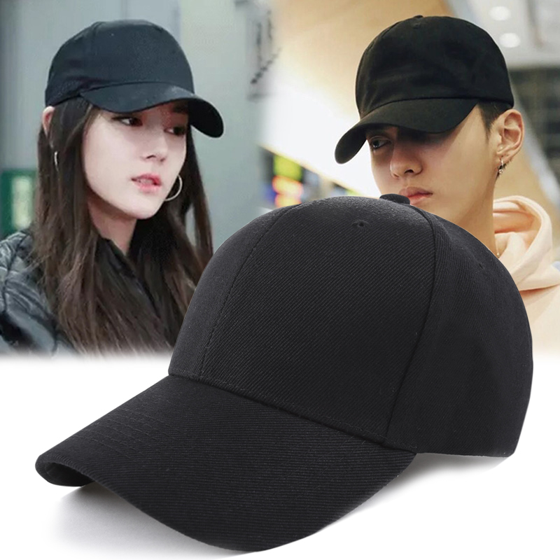 Black hat womens net red autumn winter thickened cap