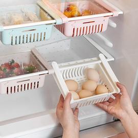 冰箱收纳盒抽屉式抽拉悬挂分隔保鲜整理盒储物盒鸡蛋蔬菜葱蒜肉图片