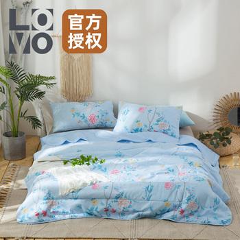 lovo家纺 夏天被子被床品芯 空调被夏凉被七孔防螨抑菌夏被单双人
