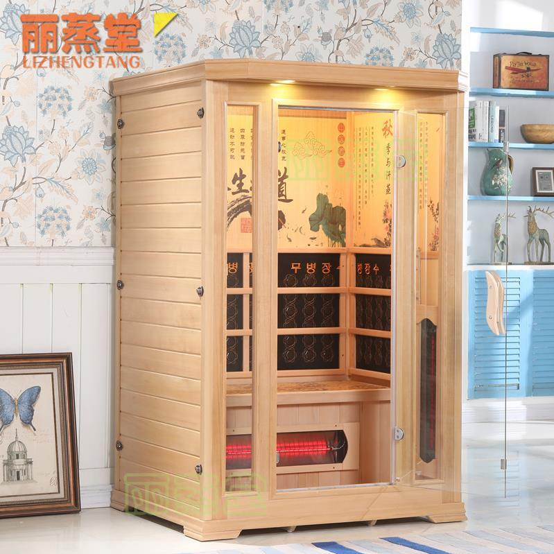 Family sauna room electric stone far infrared sauna bath painted seats multifunctional infrared beauty salon high temperature.