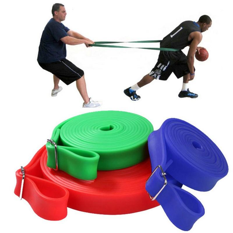 Track and field tension belt household basketball explosive training equipment fitness elastic belt strength resistance rubber rope