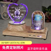 旋转木马音乐盒八音盒创意生日礼物女生送儿童女友老婆定制水晶球