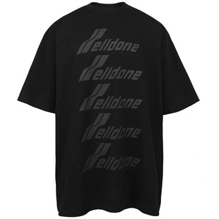 WE11DONE 2020ss大字母LOGO ins網紅男女同款Oversize寬鬆短袖T恤
