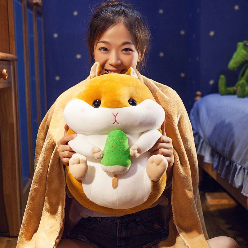 Plush toy pillow Girl Doll sleeping on the bed occasionally cloth soft hamster. My baby is lovely