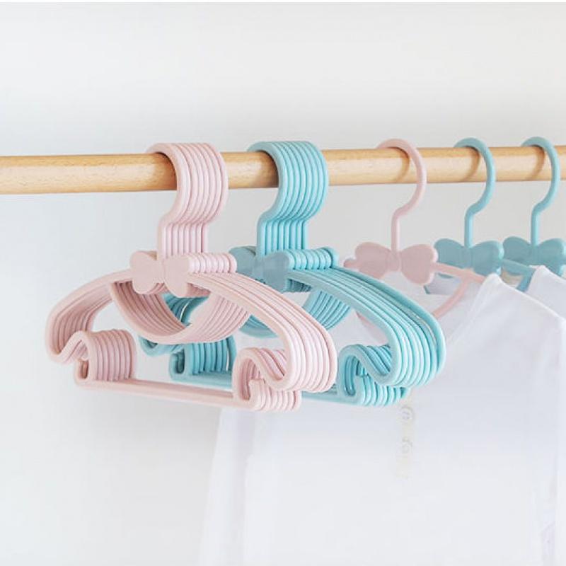 儿童衣架子多功能婴儿宝宝新生儿塑料家用可爱蝴蝶晾晒无痕衣撑26