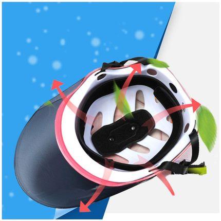 电动车安全头帽 女款防晒图片
