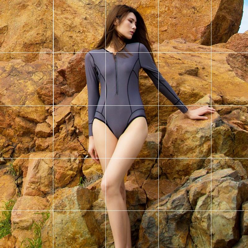 泳装女保守 遮肚经典衣装遮肚子浮潜泳池海岛民族风风网运动风游