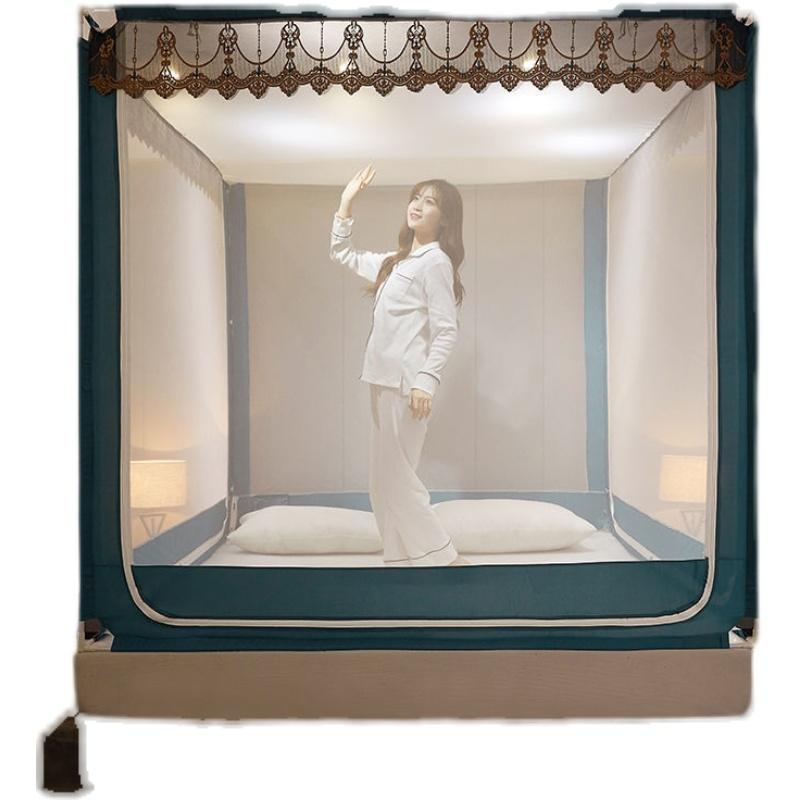 新款生活家用蚊帐1.8米双人床1.5米蒙古包防摔儿童单人1.2米单人