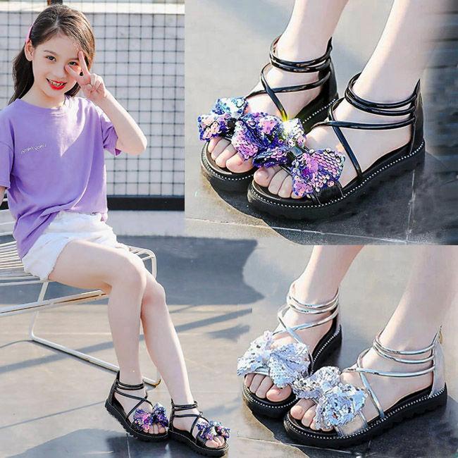 2020新款夏儿童中大童女童凉鞋小学生小女孩韩版公主凉鞋