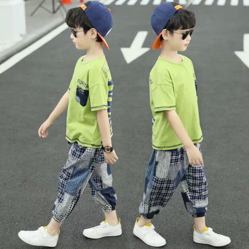 童装男童夏装套装2020新款儿童洋气韩版中大童帅气夏季小孩衣服潮
