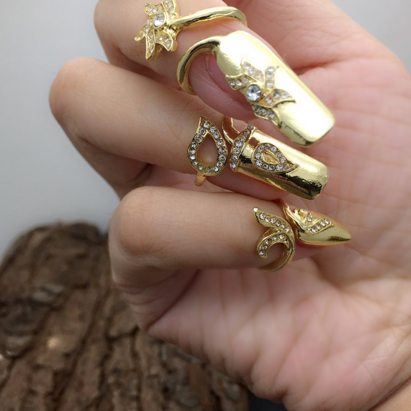 Ancient palace ring cos style fake nail set strategy for prolonging the wedding anniversary