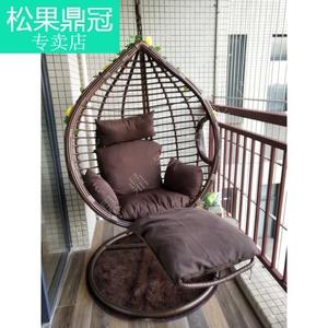室內吊籃藤椅搖籃腳踏秋千陽臺吊椅庭院家用單雙人吊床椅住宅家具