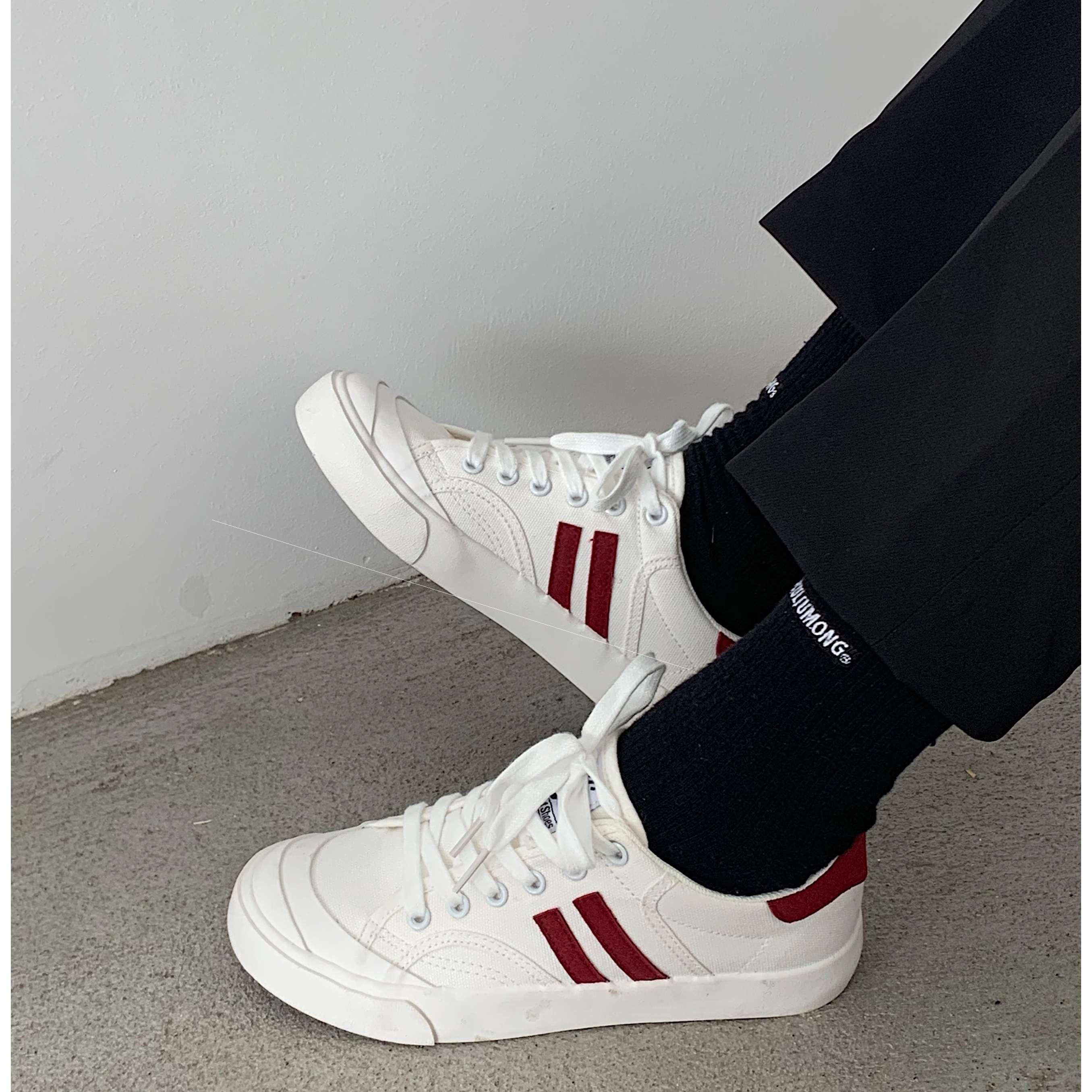白鞋许板鞋平底子网红出镜率春季韩版百搭轻便刘芒帆布鞋女街头