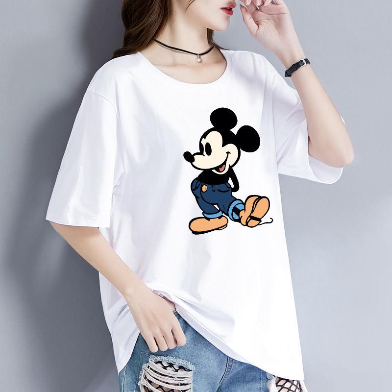 2020 summer new short sleeve T-shirt womens Korean cotton white Korean Short Sleeve T-Shirt womens loose womens student trend