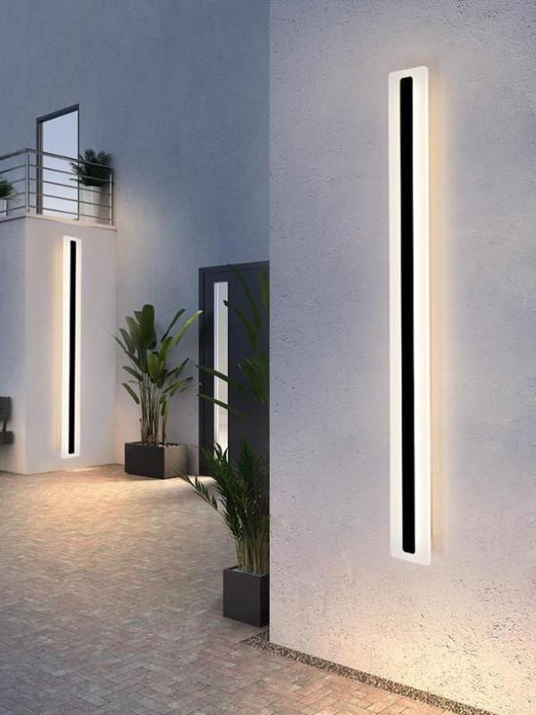 客厅照明灯具户外售楼部院子网红长条电视墙壁灯马路道路背景墙阳
