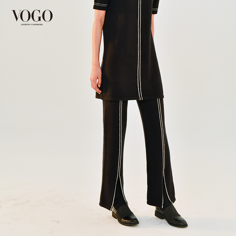 Vogo Vogel new genuine womens 100 pure cashmere knitted pants rv80a1846 special powder