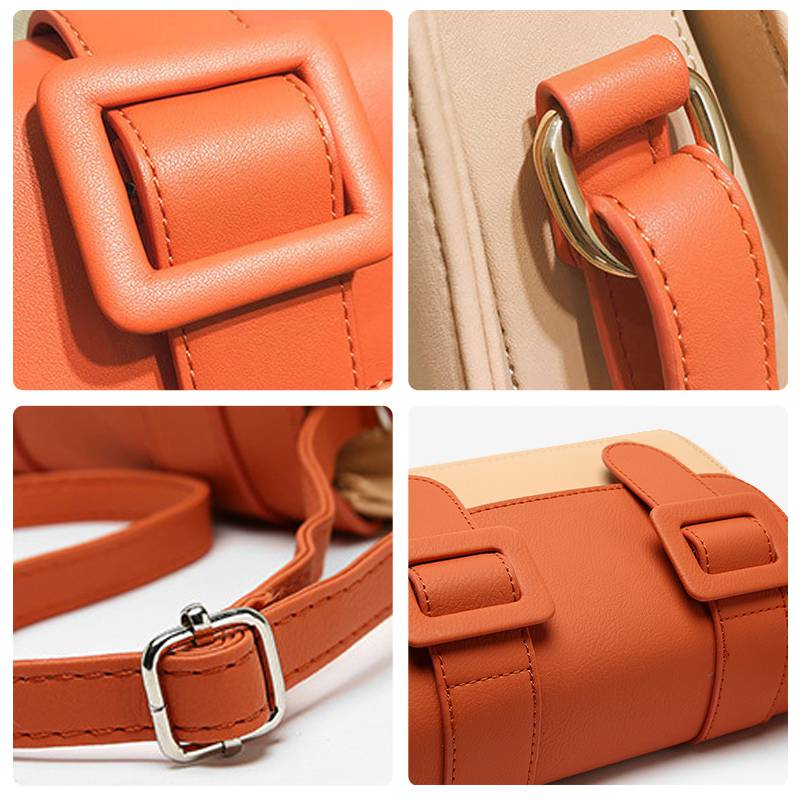 Fashionable cross slung Cambridge bag women ins French minority fresh and retro port style one shoulder postmans small square bag