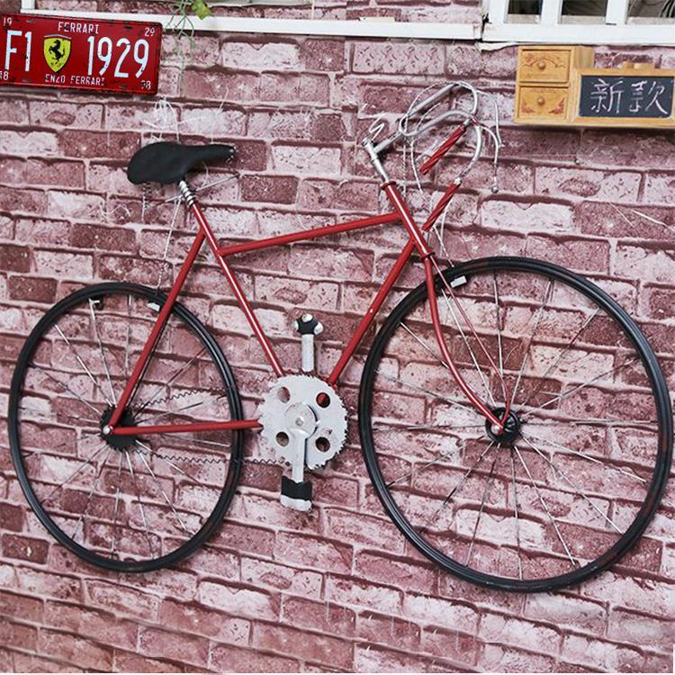 复古铁艺自行车餐厅壁挂墙饰酒吧装饰墙壁挂件房间墙上立体装饰品
