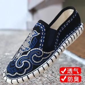 。布仆绣艺江南色鬼刺绣老北京布鞋社会鞋男中国风西山脸谱午塘布