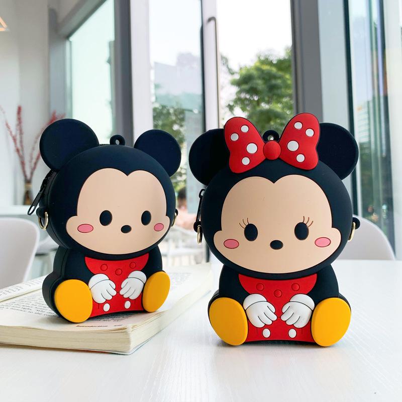 2020 new Mickey Minnie zero wallet cute cartoon childrens mobile phone bag key bag coin cross shoulder bag
