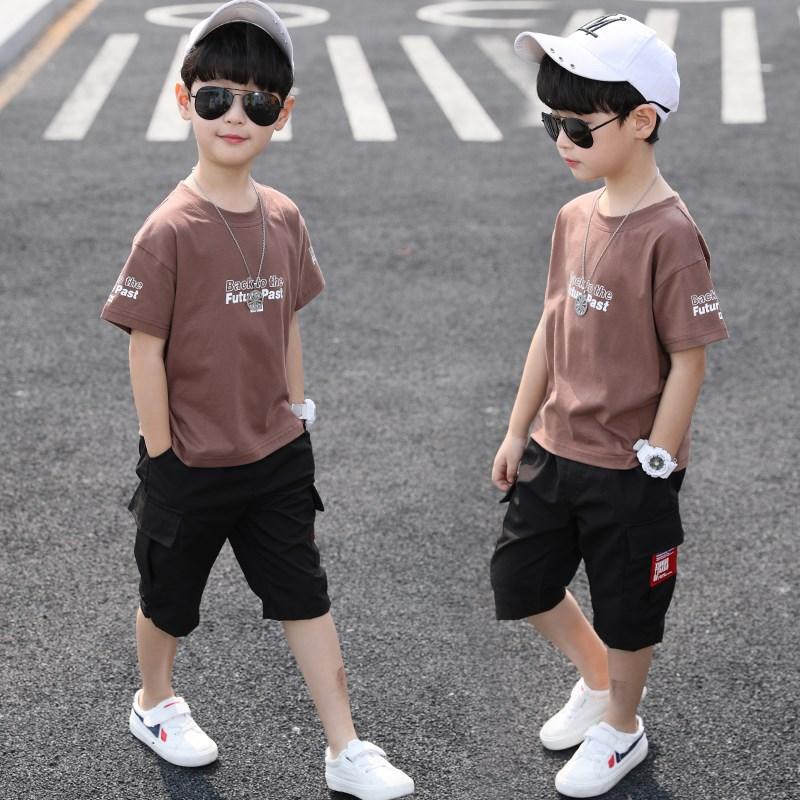 童装男童夏装套装2020新款儿童短袖夏季运动中大童洋气男孩帅气潮