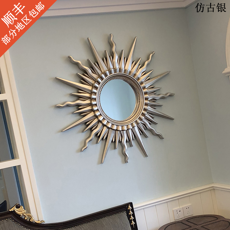 French background wall decoration mirror frame decoration mirror living room porch fireplace mirror European American Sunglasses wall hanging