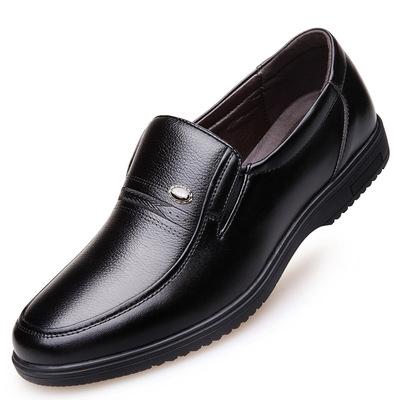 47男装特大码单皮鞋46中老年商务休闲鞋48套脚45马加大号父亲鞋子