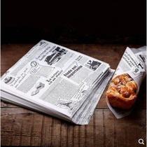 复古牛皮色英文报纸油纸 食物垫纸 炸品小吃防油纸炸鸡薯条吸油纸
