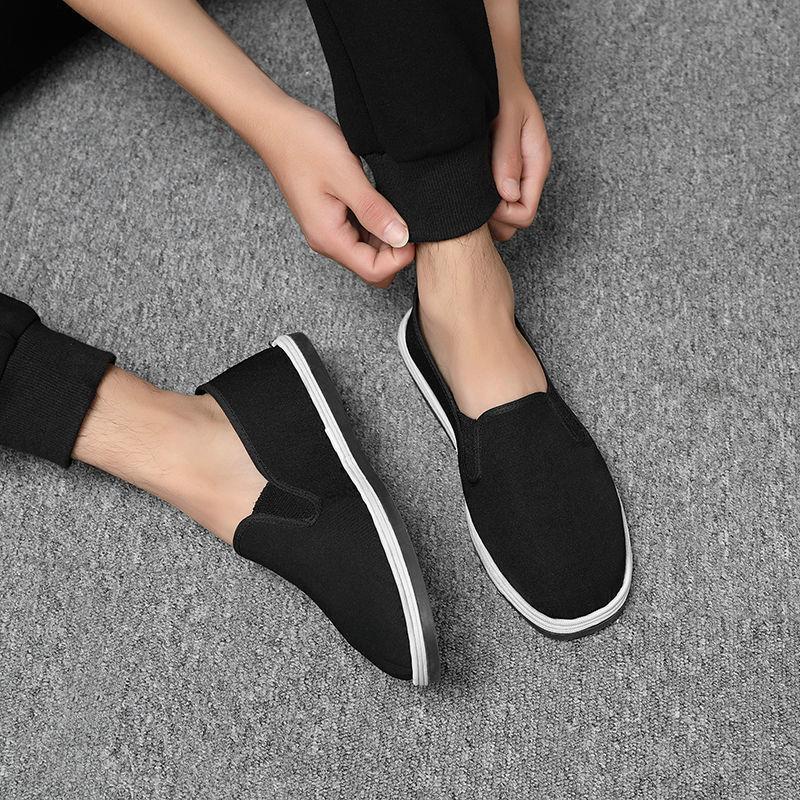 春夏大码老北京布鞋男鞋平底透气舒适中老年人鞋爸爸鞋老人鞋