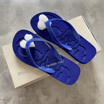 CK slippers domestic counter men and women lovers summer trend sports leisure fashion beach clip foot flip flop